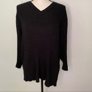 Lane Bryant cable knit V neck sweater
